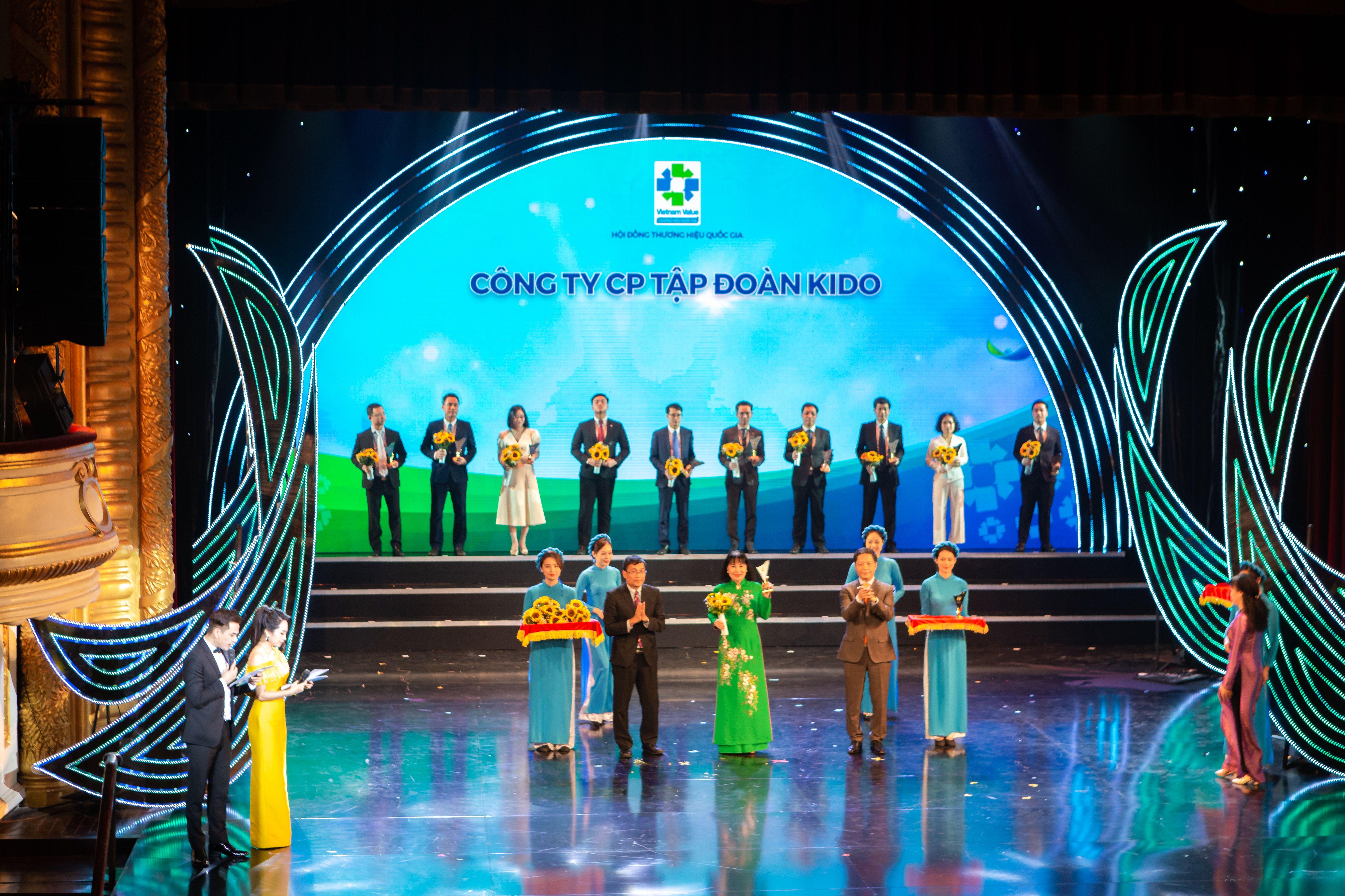 Tập đoàn Kido nhận giải thương hiệu quốc gia năm 2020